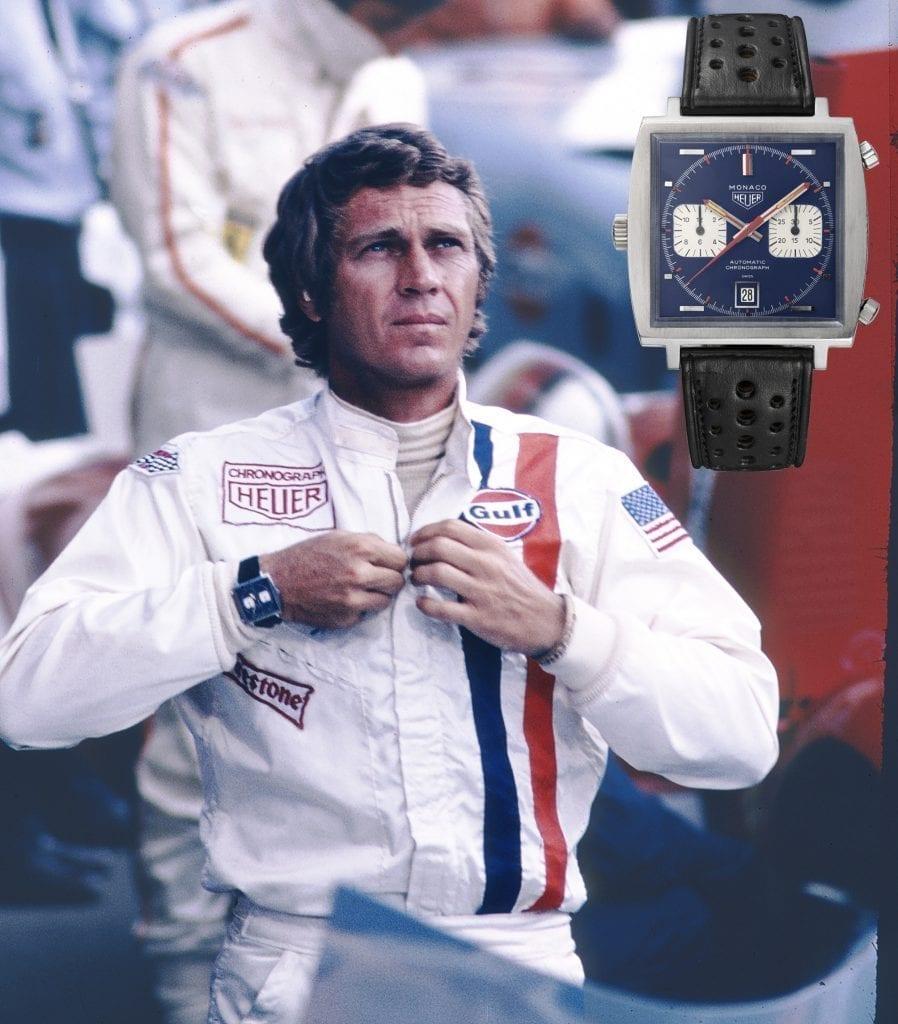 La pièce de référence pour tout collectionneur de Monaco : la montre portée à l'écran par Steve McQueen dans Le Mans en 1971. L'un des exemplaires utilisés pour les prises de vues a été vendu en 2009 par Antiquorum pour 87 600 $. Un autre exemplaire a été adjugé en 2012 799 500 $.