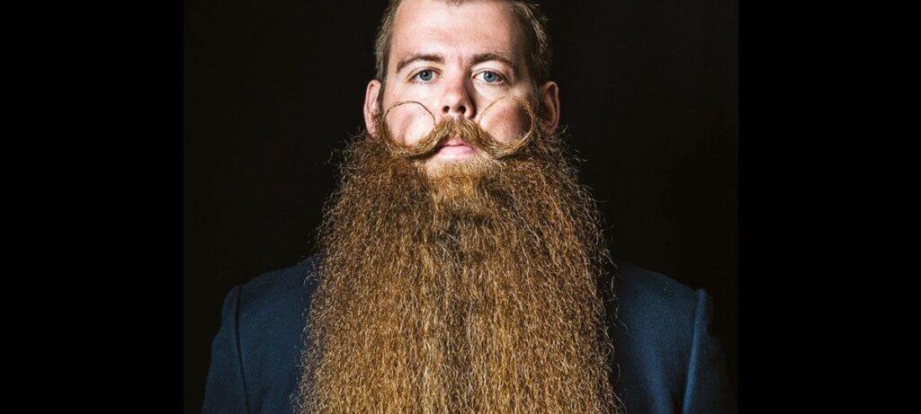 Josh Black au Championnat du monde de barbe 2015.