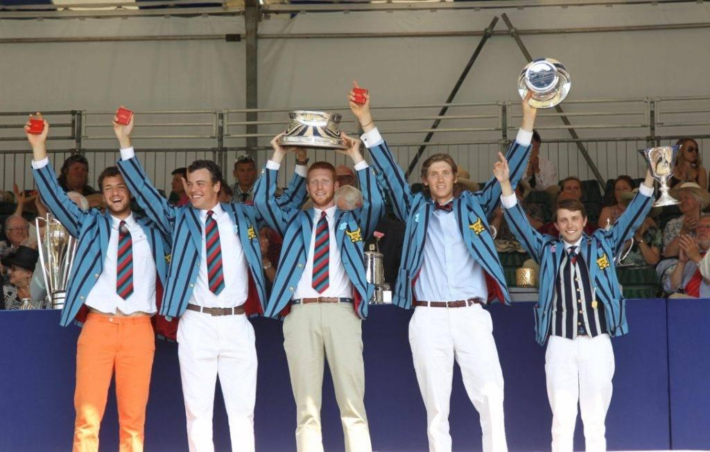 Avec son équipe d'aviron, Jack Carlson (en gilet sur la photo) a fini 3e dans sa catégorie aux championnats du monde 2016.