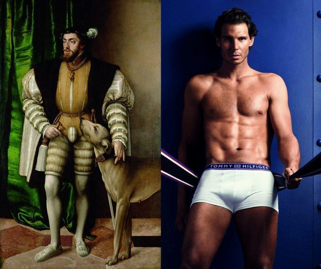 Il est loin le temps où les hommes tel Charles V rembourraient leur braguette pour mettre en avant leurs attributs. Sous l'impulsion de Calvin Klein, les grandes marques misent sur les égéries comme Rafael Nadal pour accroître la notoriété de leur underwear.