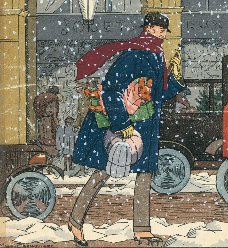 Illustration de Maurice Taquoy en couverture du premier Monsieur, daté du 1er janvier 1920. A l'époque, le prix était de 5 francs.