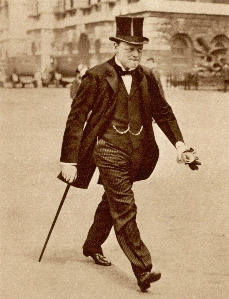 Avant d'être ce héros de l'Histoire, Winston est une allure, un style.