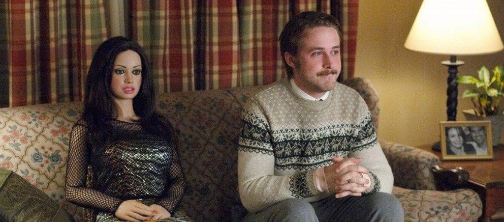 Dans le film Une fiancée pas comme les autres, Ryan Gosling tombe amoureux d'une poupée gonflage.
