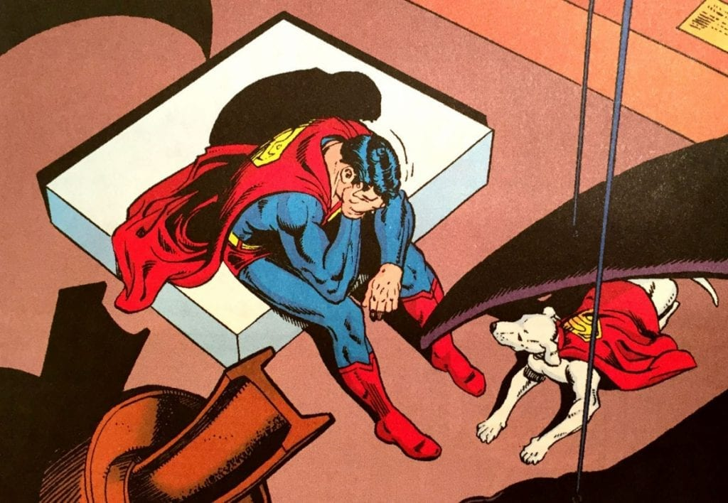Superman Crying (Superman v1 423) by Swan & Perez.