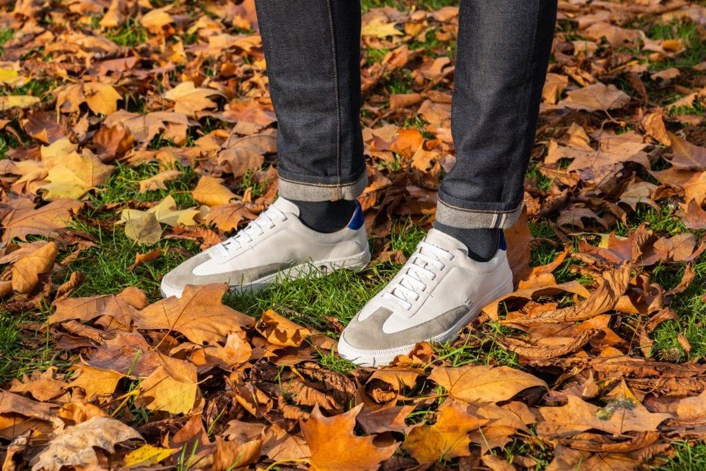 Les nouvelles sneakers, présentées ici en avant-première, sont en cuir, cousues Strobel, avec, comme l'ensemble des modèles, une semelle en mousse ergonomique conférant au pied un amorti très confortable. ©In Corio - Adrien Plaud