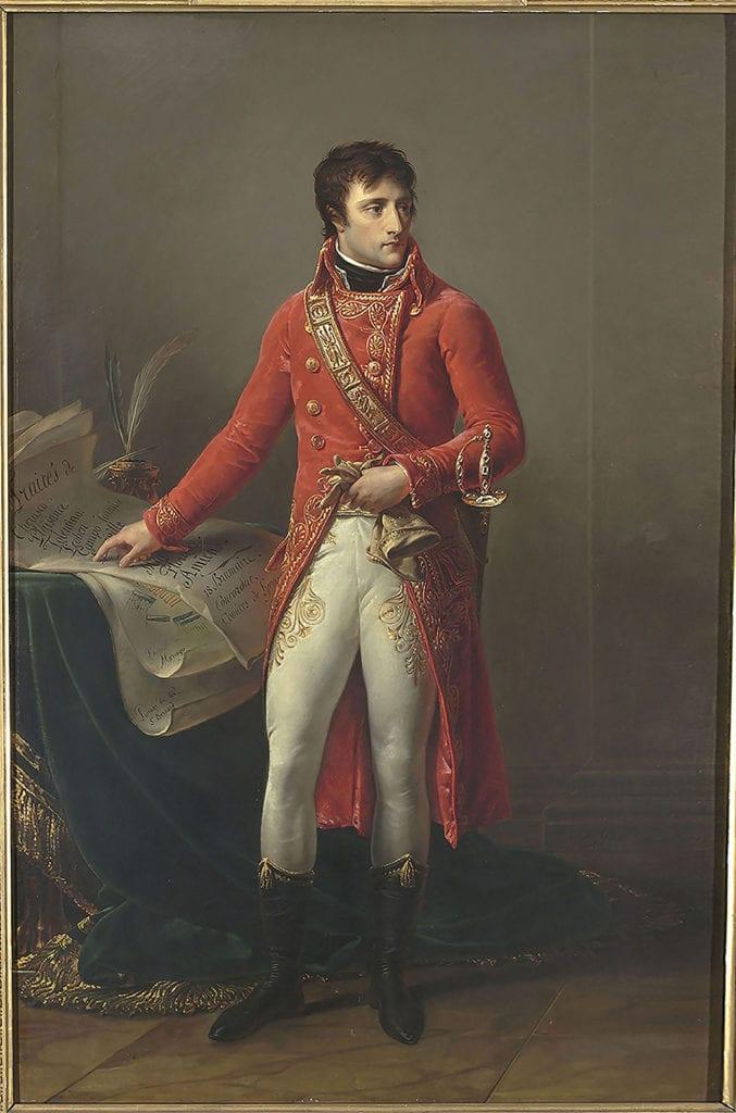 Napoléon Bonaparte  en Premier consul, Antoine-Jean Gros, 1802. Paris, musée national de la Légion d'Honneur. (© RMN - Grand Palais / Gérard Blot)