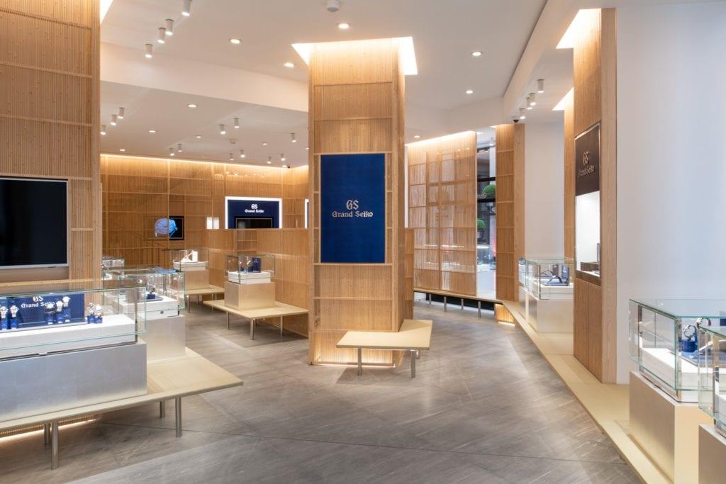 Grand Seiko incarne l'esprit du luxe horloger japonais. L'agencement intérieur a été entièrement imaginé par l'architecte japonais Kengo Kuma. © Grand Seiko