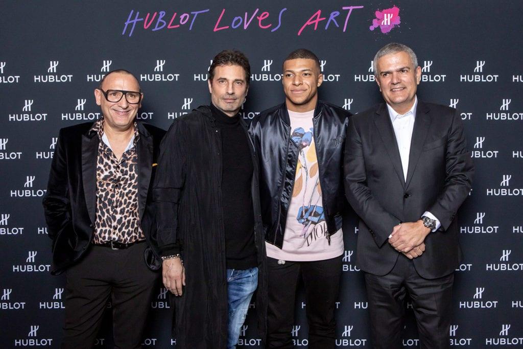 Marc Ferrero, Richard Orlinski, Kylian Mbappé et Ricardo Guadalupe.