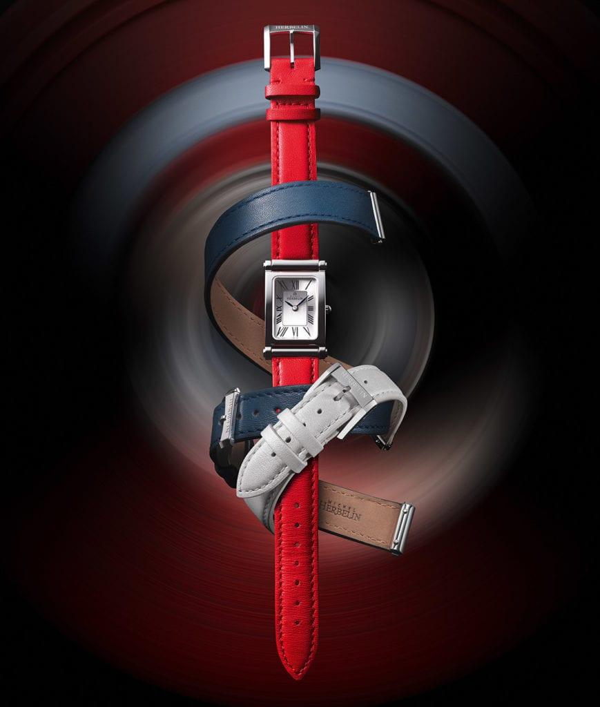Modèle emblématique lancé en 2017, la montre Antarès et ses bracelets interchangeables sera mise à l'honneur. (Photo © Michel Herbelin)
