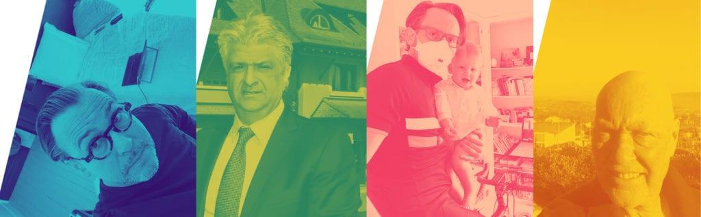 De gauche à droite : Arnaud Belloni, directeur monde de Citroën / Vartan Sirmakès, CEO et co-fondateur du groupe Franck Muller / Martial Arnaud, fondateur de la maison Artling / Jean-Claude Biver, président de la division horlogerie et joaillerie du groupe LVMH.
