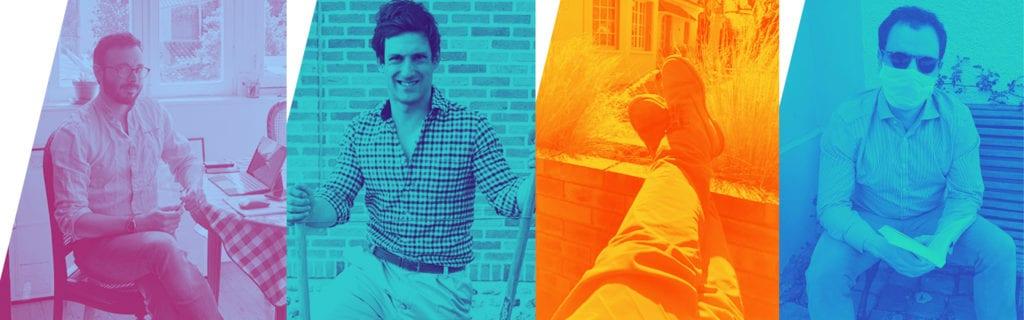 De gauche à droite : Colin de Tonnac, fondateur de Semper & Adhuc / Jacques Tiberghien, co-fondateur de Mes Chaussettes Rouges / Frédéric Bondoux, président Europe de Grand Seiko /  Vincent Metzger, co-fondateur de Mes Chaussettes Rouges.