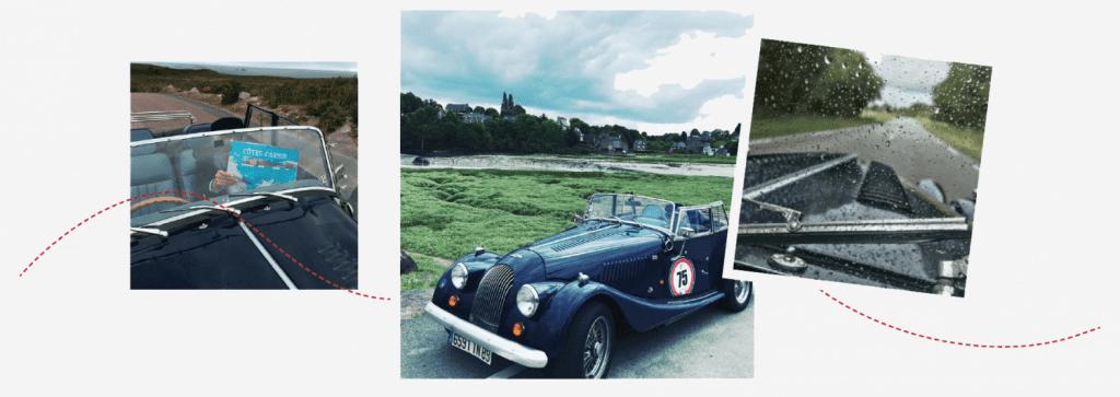 Rouler librement, profiter du bon air et des paysages bretons, la Morgan permet tout cela. Photographie ©François-Jean DAEHN